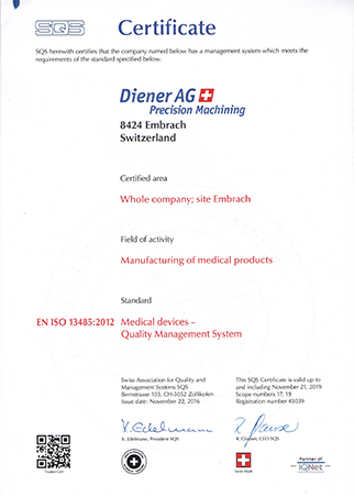 EN ISO 13485:2012 Medical devices- Quality Management system