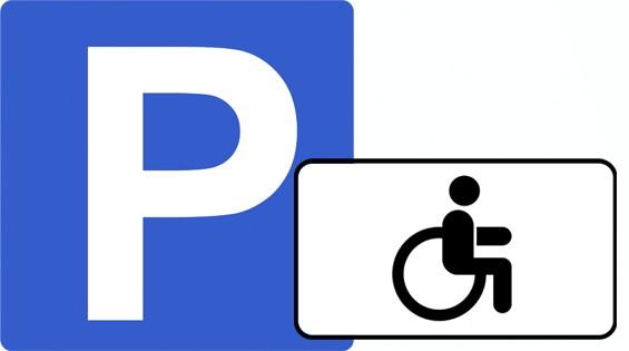 Знак стоянка для инвалидов