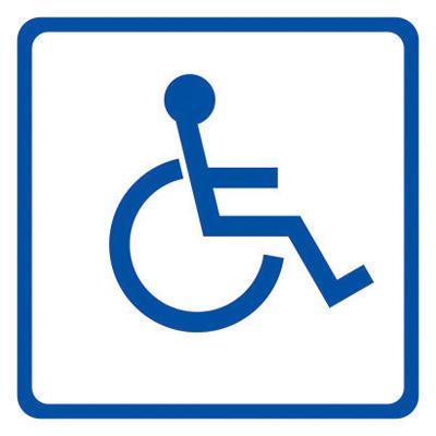 Знак доступности для инвалидов-колясочников
