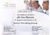 Сертификат Cochlear Value Selling Training