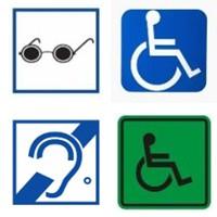 категории инвалидности: по слуху, зрению, ОДА