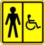Пиктограмма Туалет для инвалидов
